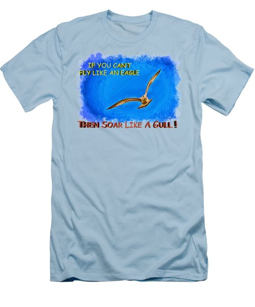 Flying Gull Men's T-Shirt (Slim Fit) by John M Bailey