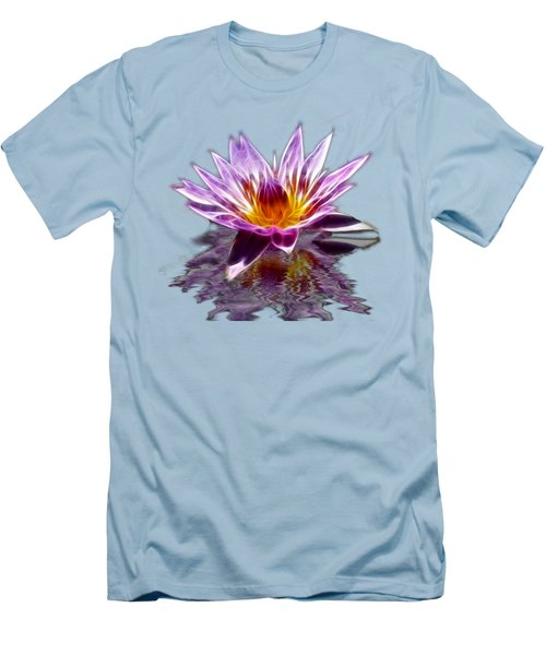 Glowing Lilly Flower Men's T-Shirt (Slim Fit) by Shane Bechler