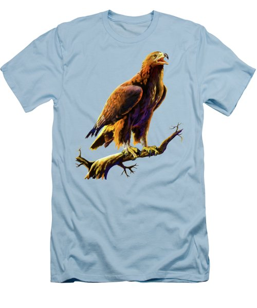 Golden Eagle Men's T-Shirt (Slim Fit) by Anthony Mwangi