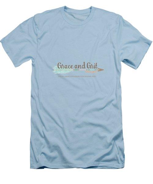 Grace And Grit Logo Men's T-Shirt (Slim Fit) by Elizabeth Taylor