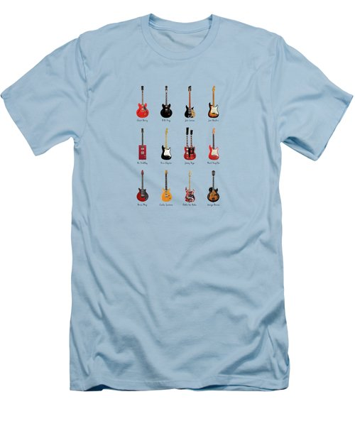 Guitar Icons No1 Men's T-Shirt (Slim Fit) by Mark Rogan