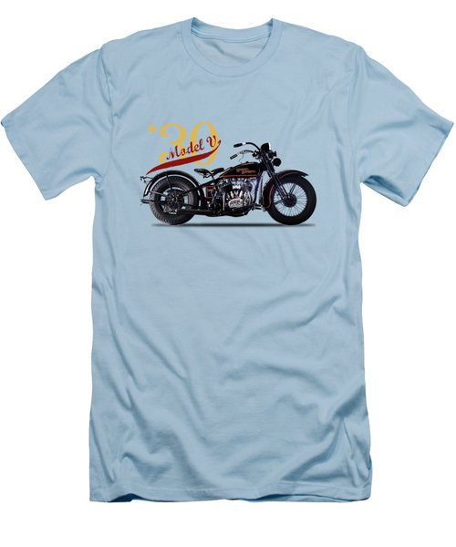 Harley-davidson Model V 1930 Men's T-Shirt (Slim Fit) by Mark Rogan