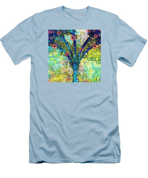 Inspirational Art - Absolute Joy - Sharon Cummings Men's T-Shirt (Slim Fit) by Sharon Cummings