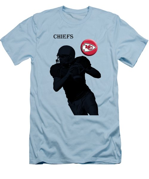 Kansas City Chiefs Football Men's T-Shirt (Slim Fit) by David Dehner