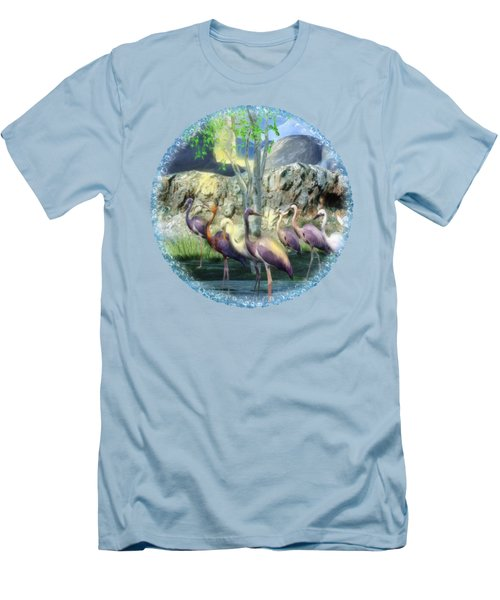Lakeside View Men's T-Shirt (Slim Fit) by Sharon and Renee Lozen