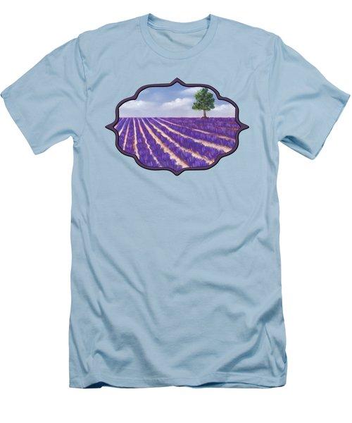 Lavender Season Men's T-Shirt (Slim Fit) by Anastasiya Malakhova