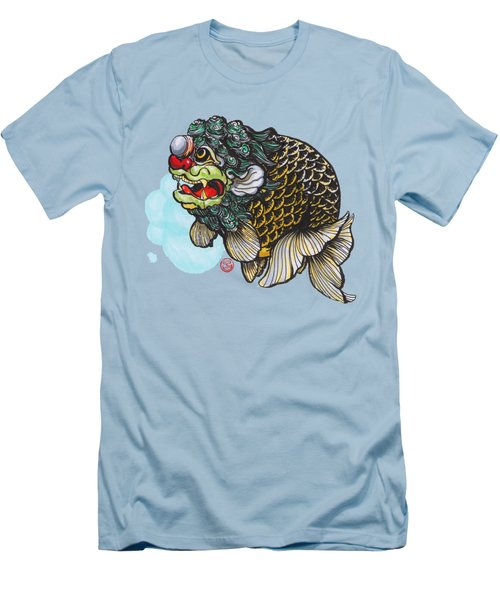 Lion Head Ranchu Men's T-Shirt (Slim Fit) by Shih Chang Yang