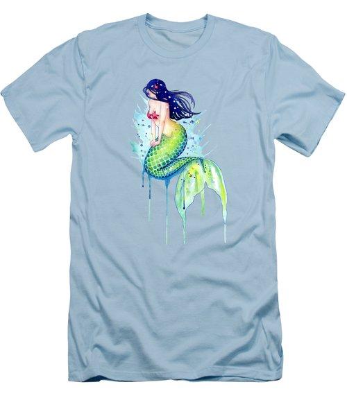 Mermaid Splash Men's T-Shirt (Slim Fit) by Sam Nagel