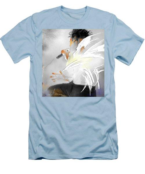 Michael Jackson 08 Men's T-Shirt (Slim Fit) by Miki De Goodaboom