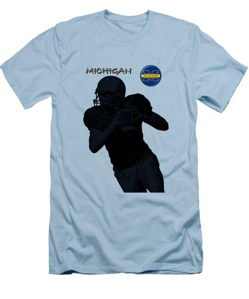 Michigan Football  Men's T-Shirt (Slim Fit) by David Dehner