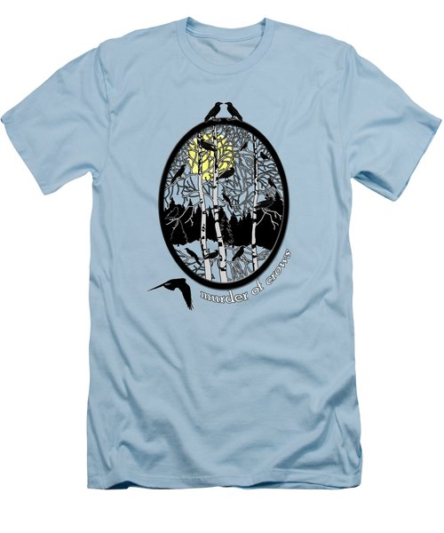 Murder Of Crows Men's T-Shirt (Slim Fit) by Methune Hively