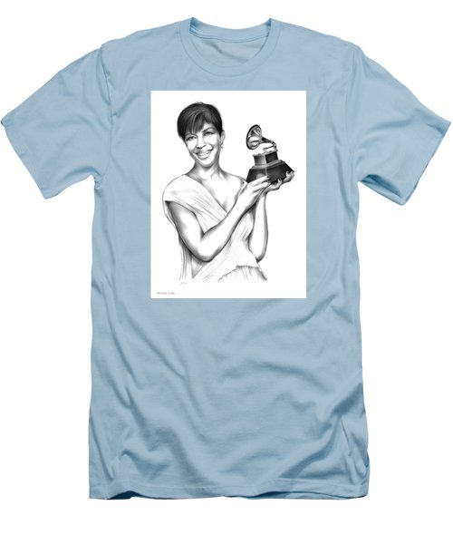 Natalie Cole Men's T-Shirt (Slim Fit) by Greg Joens