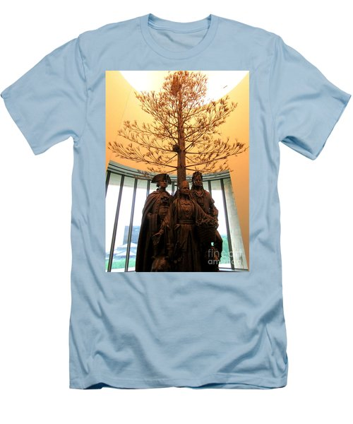 National Museum Of The American Indian 7 Men's T-Shirt (Slim Fit) by Randall Weidner