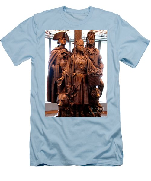 National Museum Of The American Indian 8 Men's T-Shirt (Slim Fit) by Randall Weidner