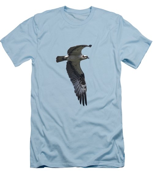 Osprey In Flight 2 Men's T-Shirt (Slim Fit) by Priscilla Burgers