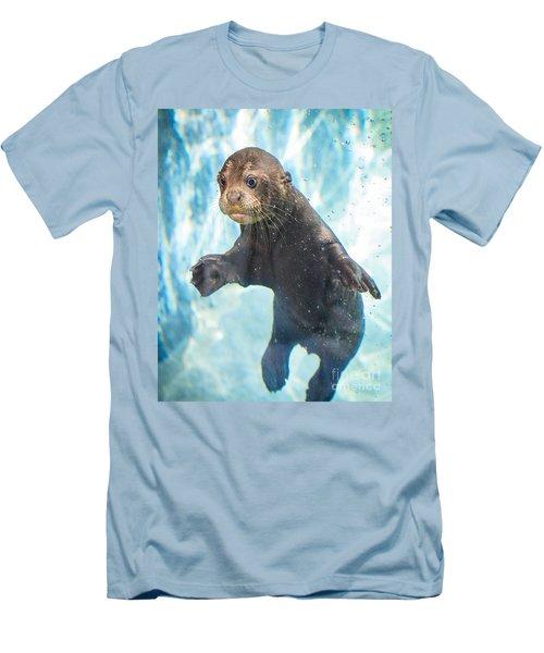 Otter Cuteness Men's T-Shirt (Slim Fit) by Jamie Pham