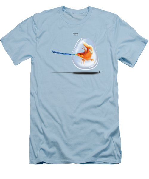 Popper Men's T-Shirt (Slim Fit) by Rob Snow