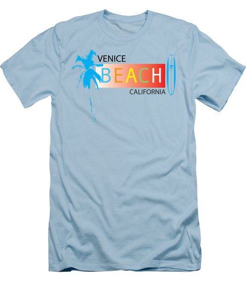 Venice Beach California T-shirts And More Men's T-Shirt (Slim Fit) by K D Graves