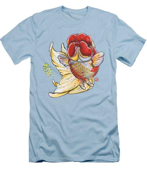 Red Oranda Men's T-Shirt (Slim Fit) by Shih Chang Yang