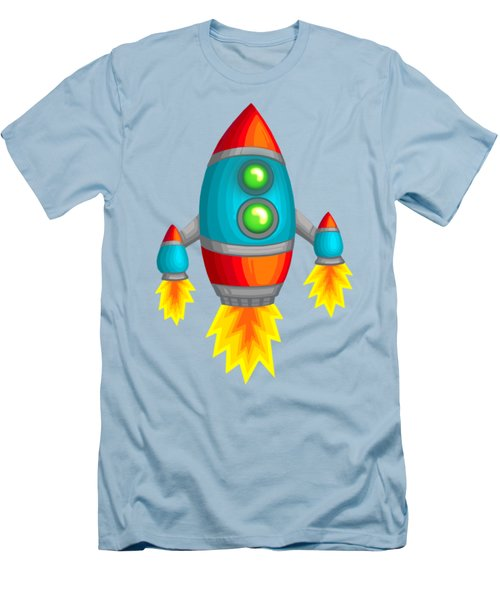 Retro Rocket Men's T-Shirt (Slim Fit) by Brian Kemper