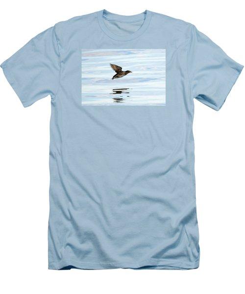Rhinoceros Auklet Reflection Men's T-Shirt (Slim Fit) by Mike Dawson