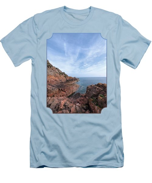 Rocky Ocean Inlet - Jersey Men's T-Shirt (Slim Fit) by Gill Billington