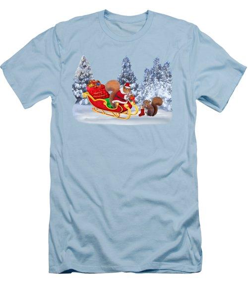 Santa's Little Helper Men's T-Shirt (Slim Fit) by Glenn Holbrook