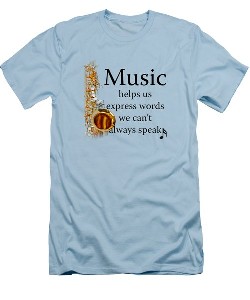 Saxophones Express Words Men's T-Shirt (Slim Fit) by M K  Miller