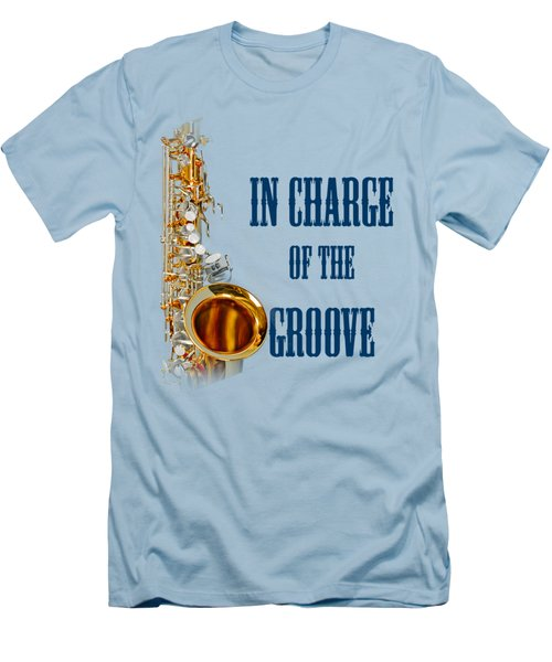 Saxophones In Charge Of The Groove 5532.02 Men's T-Shirt (Slim Fit) by M K  Miller