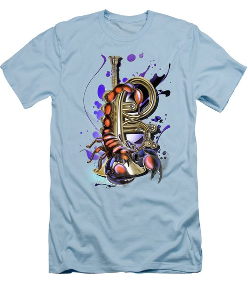 Scorpio Men's T-Shirt (Slim Fit) by Melanie D