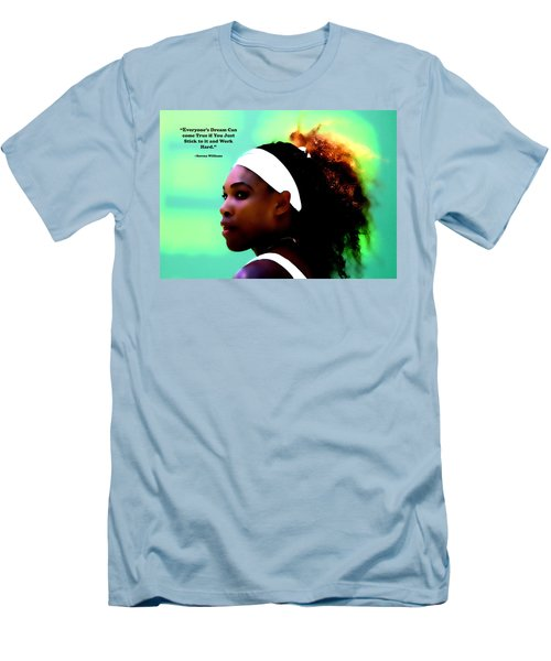 Serena Williams Motivational Quote 1a Men's T-Shirt (Slim Fit) by Brian Reaves
