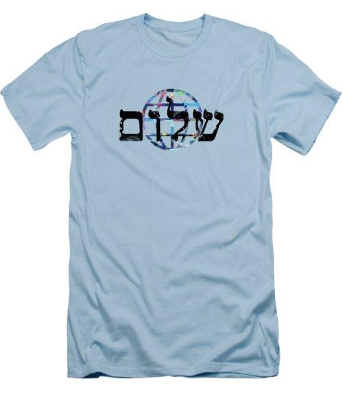Shalom  Men's T-Shirt (Slim Fit) by Mark Ashkenazi