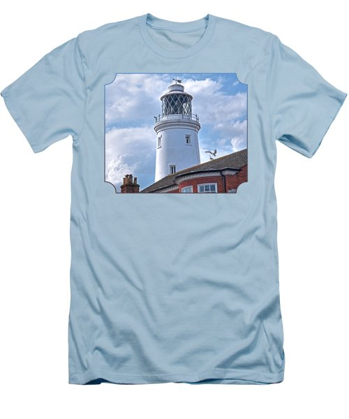 Sky High - Southwold Lighthouse Men's T-Shirt (Slim Fit) by Gill Billington