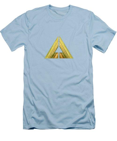 Split Triangle Green Men's T-Shirt (Slim Fit) by YoPedro
