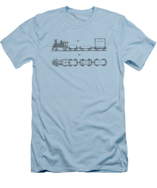 Toy Train Tee Men's T-Shirt (Slim Fit) by Edward Fielding