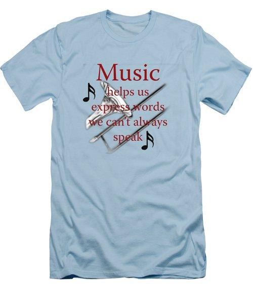 Trombone Music Expresses Words Men's T-Shirt (Slim Fit) by M K  Miller