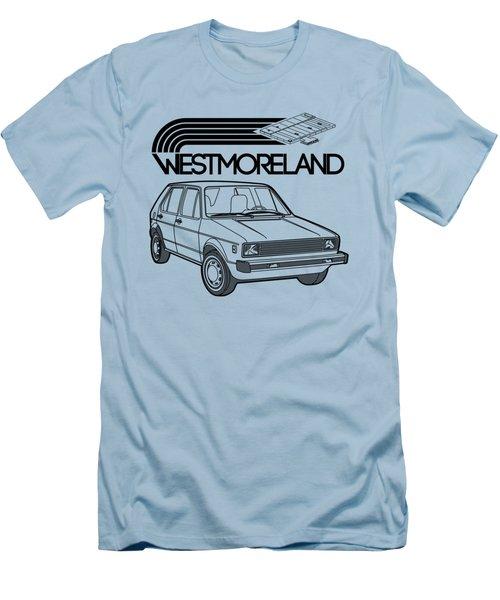 Vw Rabbit - Westmoreland Theme - Black Men's T-Shirt (Slim Fit) by Ed Jackson