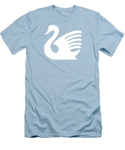 White Swan Men's T-Shirt (Slim Fit) by Maria Astedt