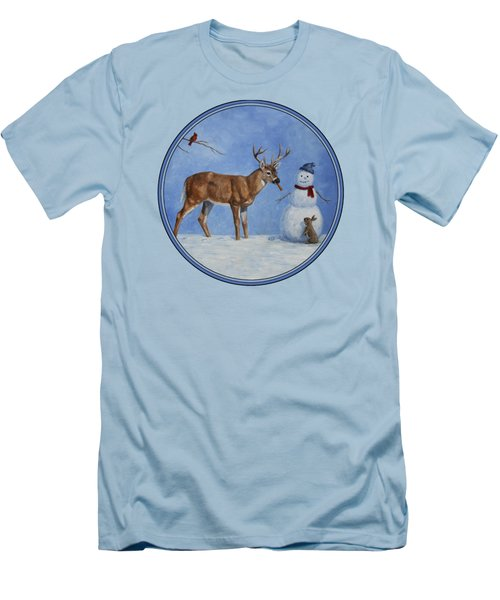 Whose Carrot Seasons Greeting Men's T-Shirt (Slim Fit) by Crista Forest