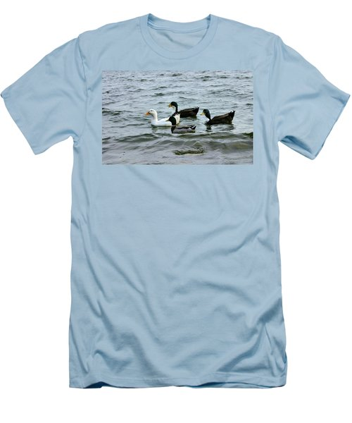 Yak Yak Yak One In Every Crowd Men's T-Shirt (Slim Fit) by Kristin Elmquist