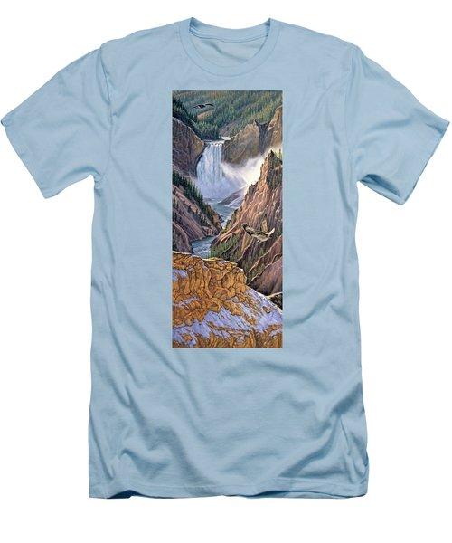 Yellowstone Canyon-osprey Men's T-Shirt (Slim Fit) by Paul Krapf