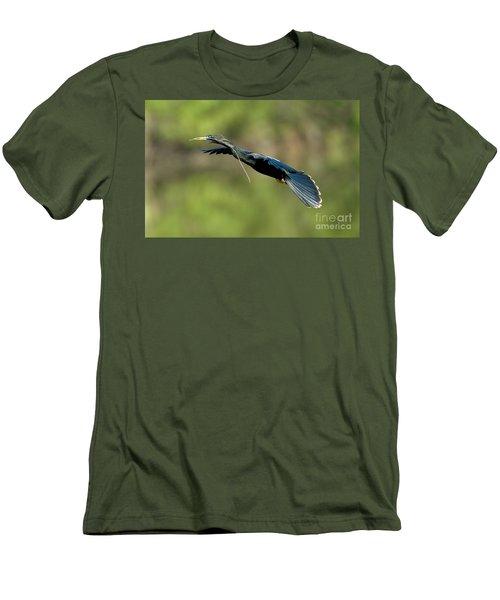 Anhinga Men's T-Shirt (Slim Fit) by Anthony Mercieca