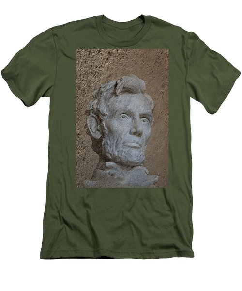President Lincoln Men's T-Shirt (Slim Fit) by Skip Willits
