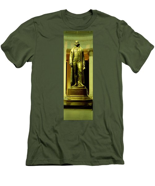 Jefferson Memorial, Washington Dc Men's T-Shirt (Slim Fit) by Panoramic Images