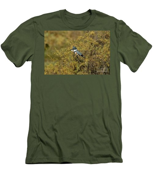 Belted Kingfisher With Fish Men's T-Shirt (Slim Fit) by Anthony Mercieca