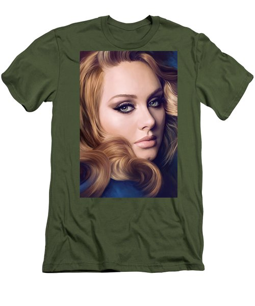 Adele Artwork  Men's T-Shirt (Slim Fit) by Sheraz A