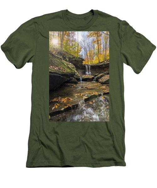 Autumn Flows Men's T-Shirt (Slim Fit) by James Dean