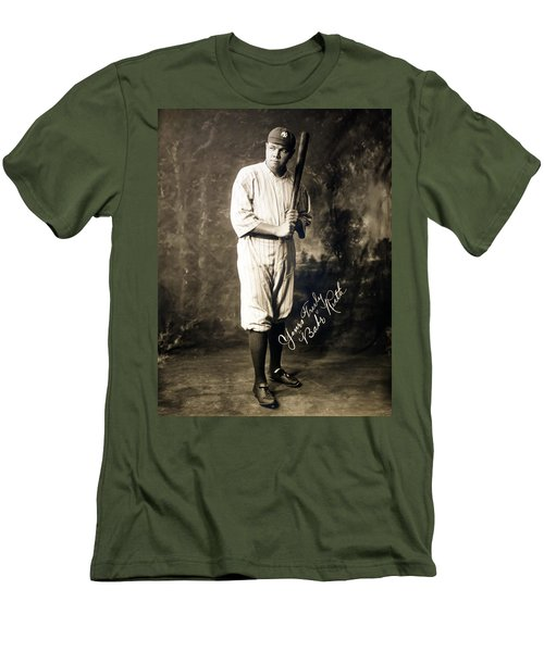 Babe Ruth 1920 Men's T-Shirt (Slim Fit) by Mountain Dreams