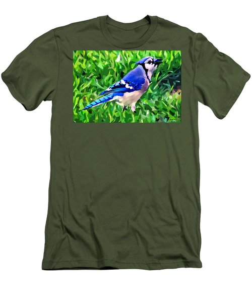 Blue Jay Men's T-Shirt (Slim Fit) by Stephen Younts