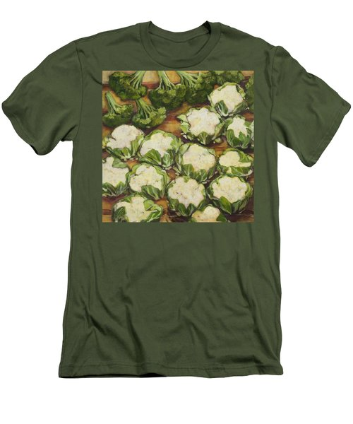 Cauliflower March Men's T-Shirt (Slim Fit) by Jen Norton